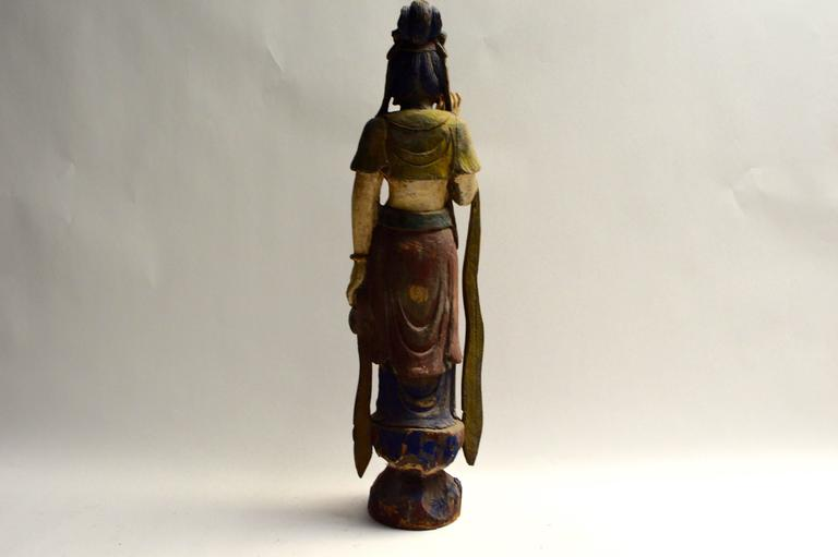 East Asian Polychrome Buddha Sculpture