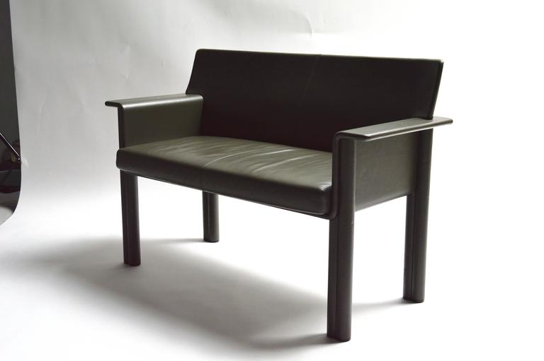 Italian Pair of Tobia Scarpa Leather Settees For Sale