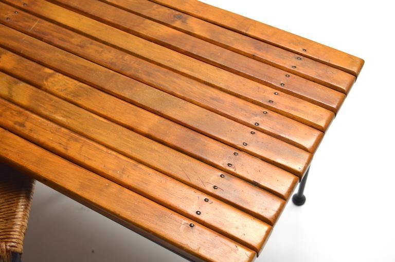 Arthur Umanoff Bench With Nesting Stools At 1stdibs