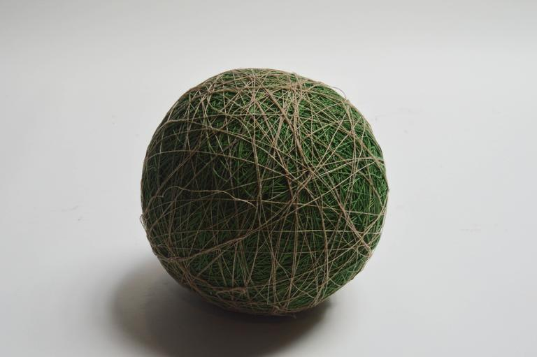 Massive Yarn Ball Stool In Excellent Condition For Sale In Los Angeles, CA