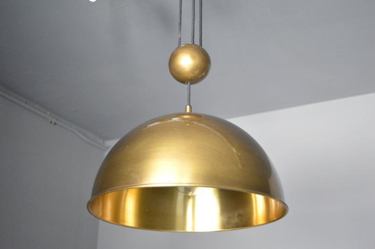 German Florian Schulz Dome Counter Balance Pendant For Sale