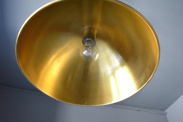 Late 20th Century Florian Schulz Dome Counter Balance Pendant For Sale
