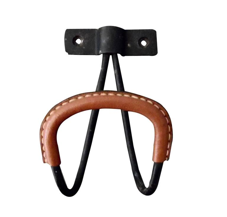 Jacques Adnet Leather Hook