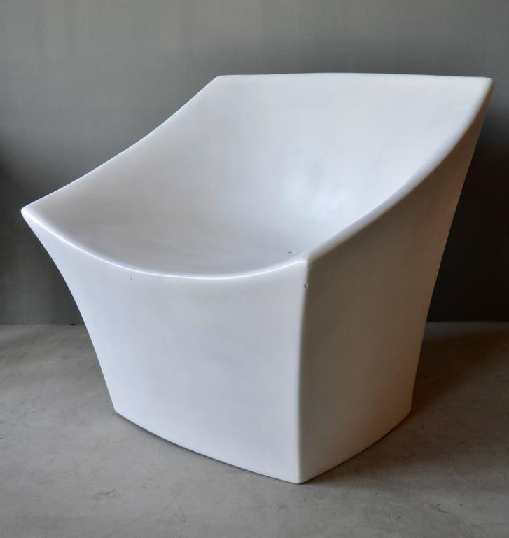 Pair Of Sculptural Fiberglass Outdoor Chairs For Sale At