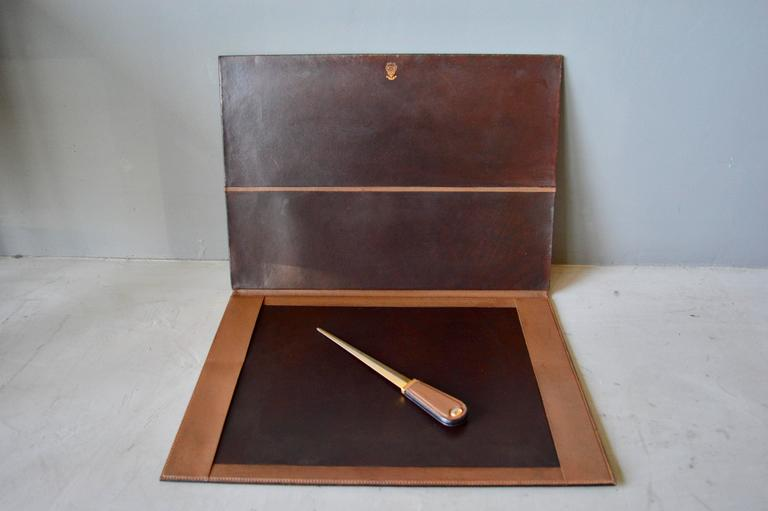 Gucci Leather Desk Set For Sale at 1stdibs