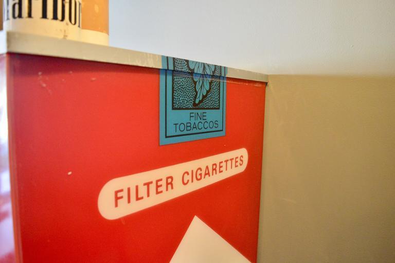 Steel Massive Vintage Marlboro Light Up Cigarette Pack For Sale