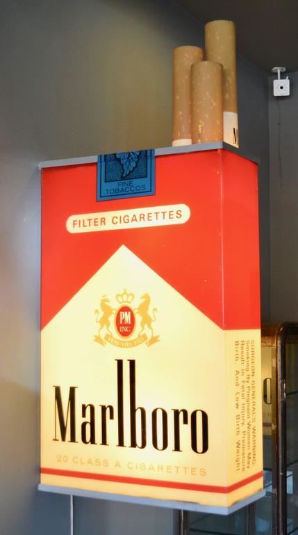 Massive Vintage Marlboro Light Up Cigarette Pack For Sale