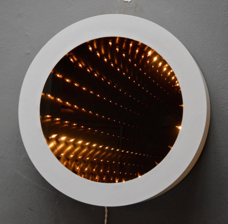 Vintage Round Infinity Mirror For 1