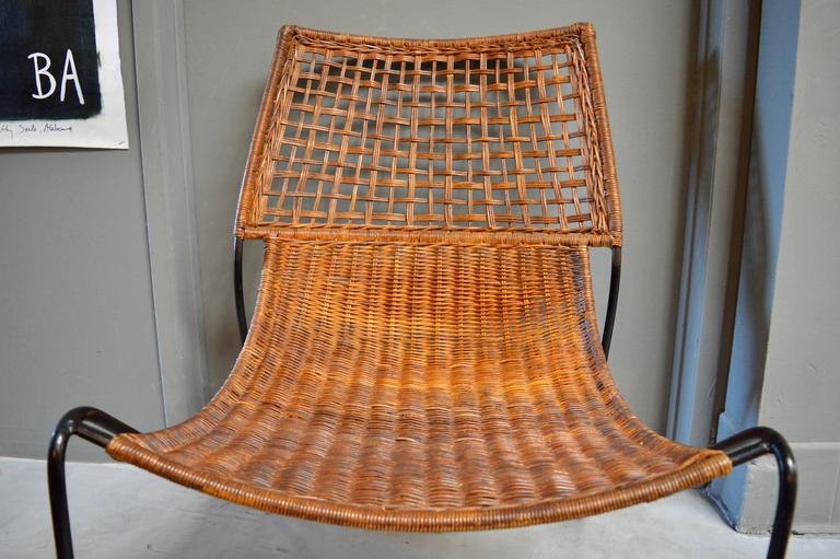 Sculptural Iron and Wicker Chairs in the style of Tempestini For Sale 2
