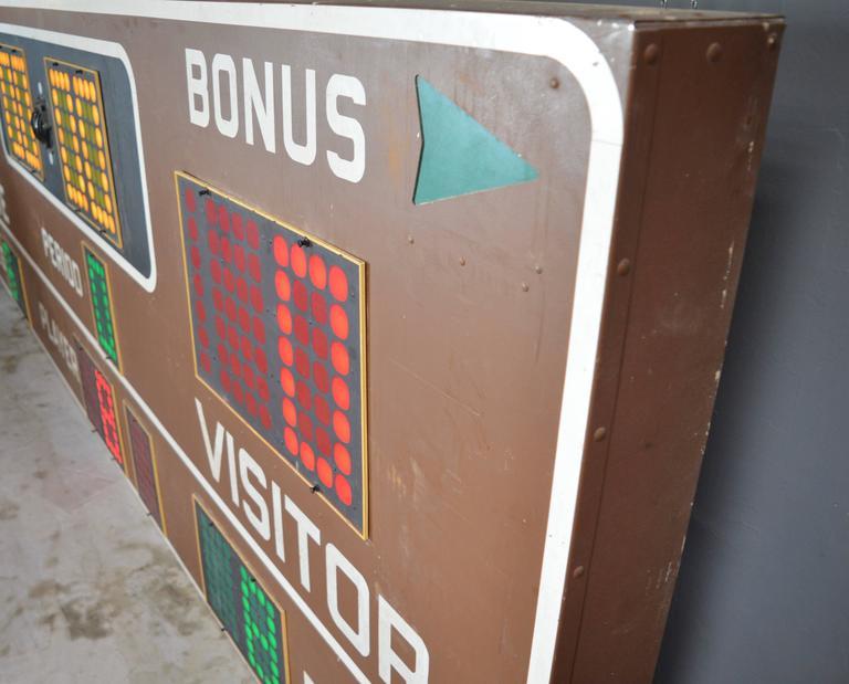 Late 20th Century Massive Fair Play 1970s Basketball Scoreboard For Sale