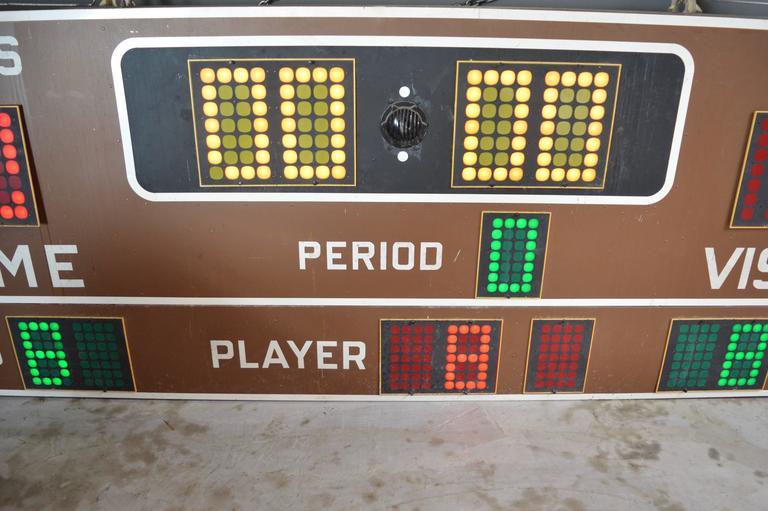 American Massive Fair Play 1970s Basketball Scoreboard For Sale