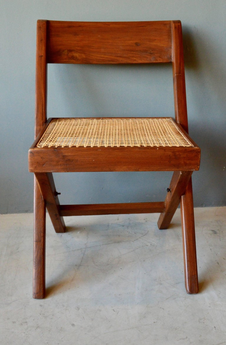 Indian Pierre Jeanneret Library Chair