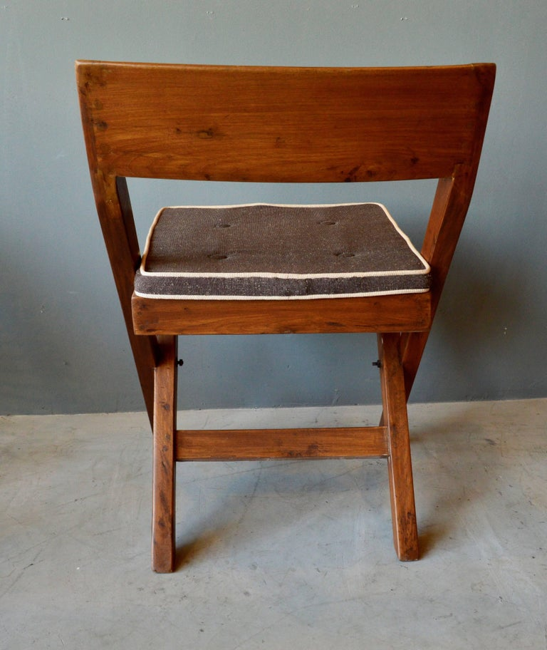 Mid-20th Century Pierre Jeanneret Library Chair