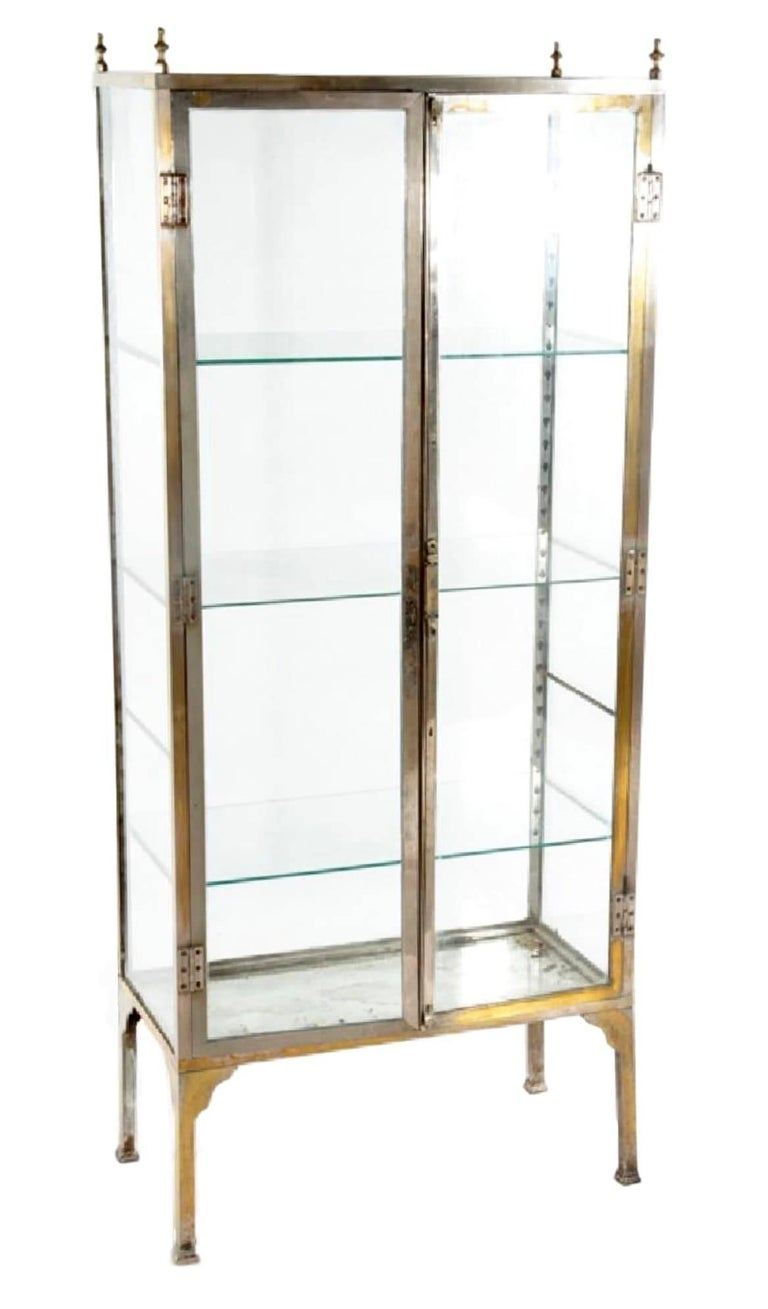 1920s nickel and bronze art deco vitrine for sale at 1stdibs for Decoration vitrine