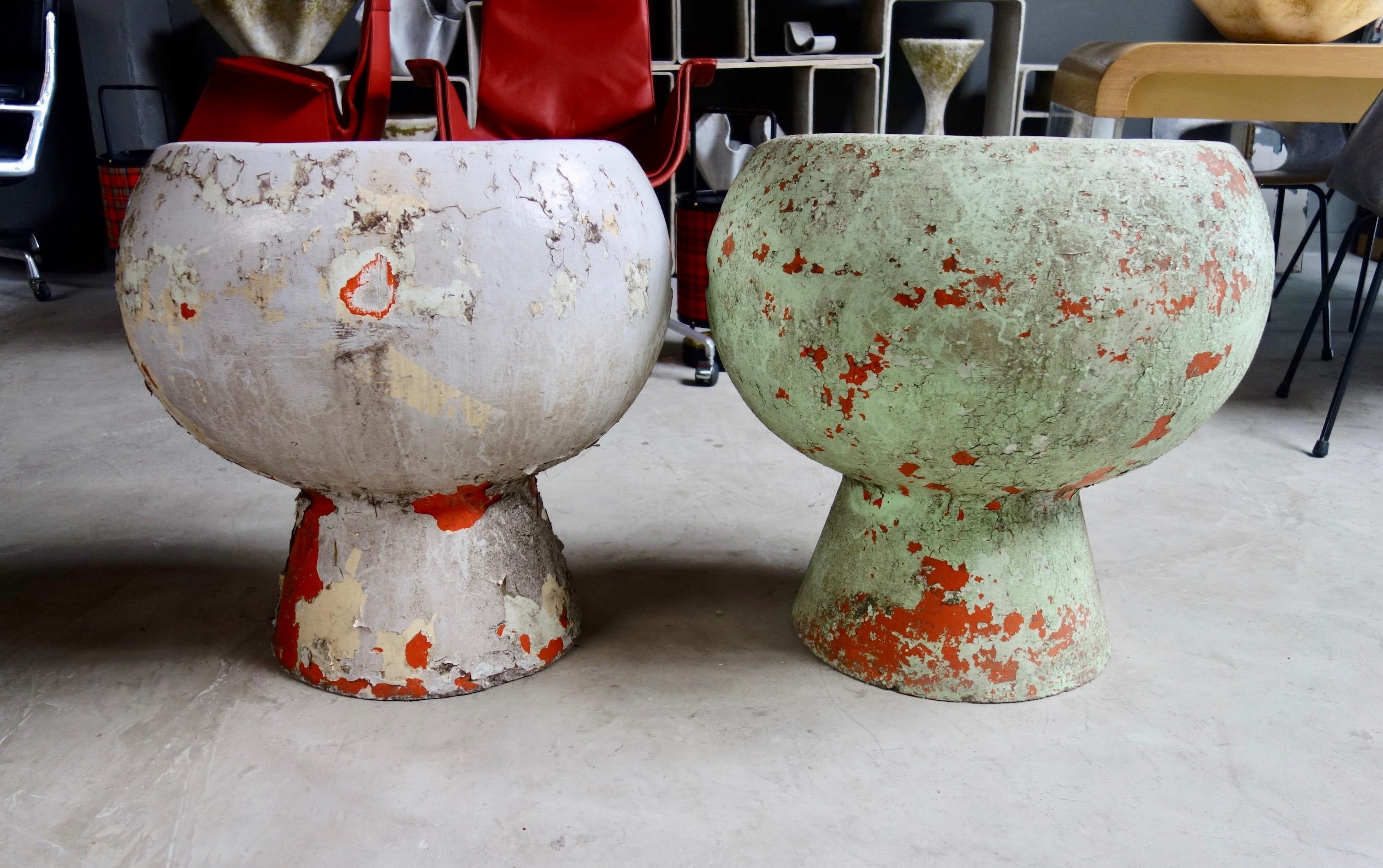 Rare Pair of Willy Guhl Concrete Mushroom Chairs For Sale 1 & Rare Pair of Willy Guhl Concrete Mushroom Chairs For Sale at 1stdibs