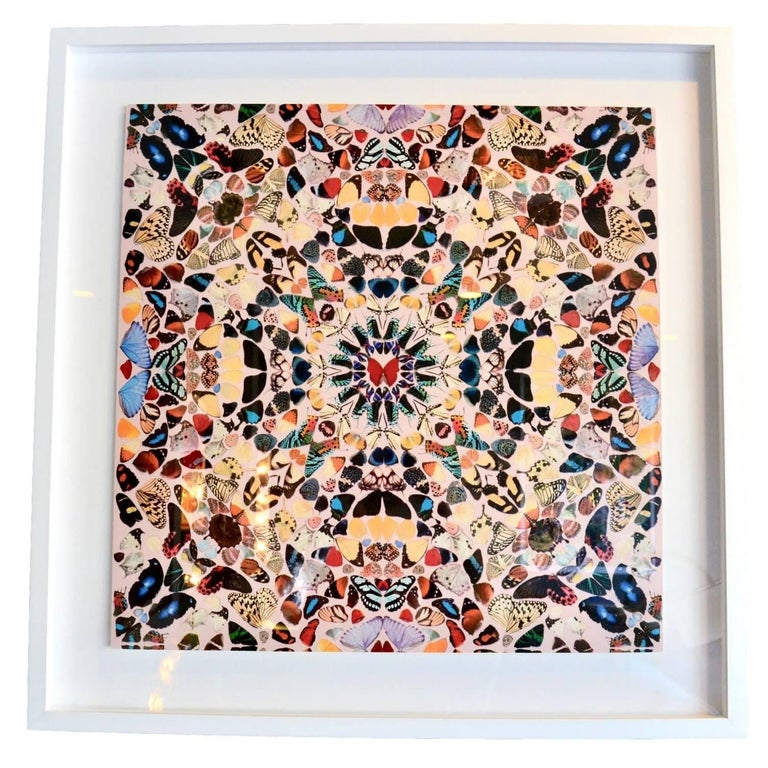 "Damien Hirst Butterfly Kaleidoscope Wallpaper ""Unframed"""