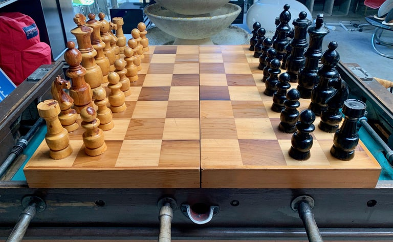 Oversized Wood Chess Set For Sale 2