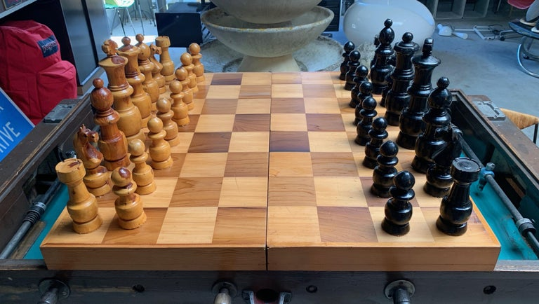 Oversized Wood Chess Set For Sale 3