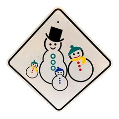 Snow Men California Street Sign