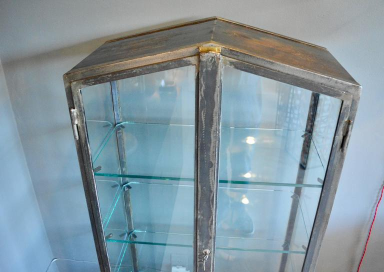 1930s Iron and Glass Vitrine In Excellent Condition For Sale In Los Angeles, CA