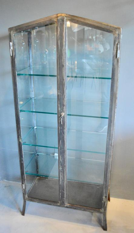 Argentine 1930s Iron and Glass Vitrine For Sale