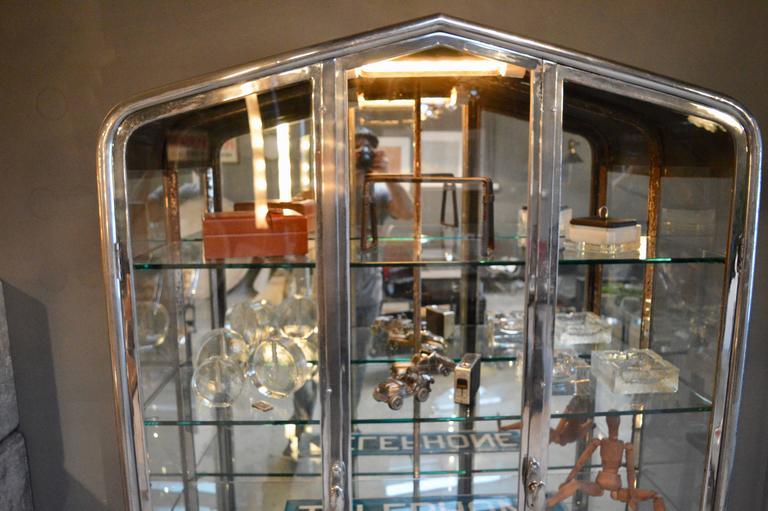 Argentine Massive Iron and Glass Vitrine For Sale
