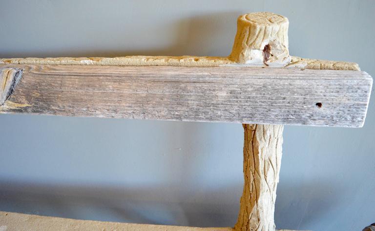 Mid-20th Century Concrete Folk Art Bench For Sale