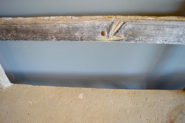 Concrete Folk Art Bench In Good Condition For Sale In Los Angeles, CA