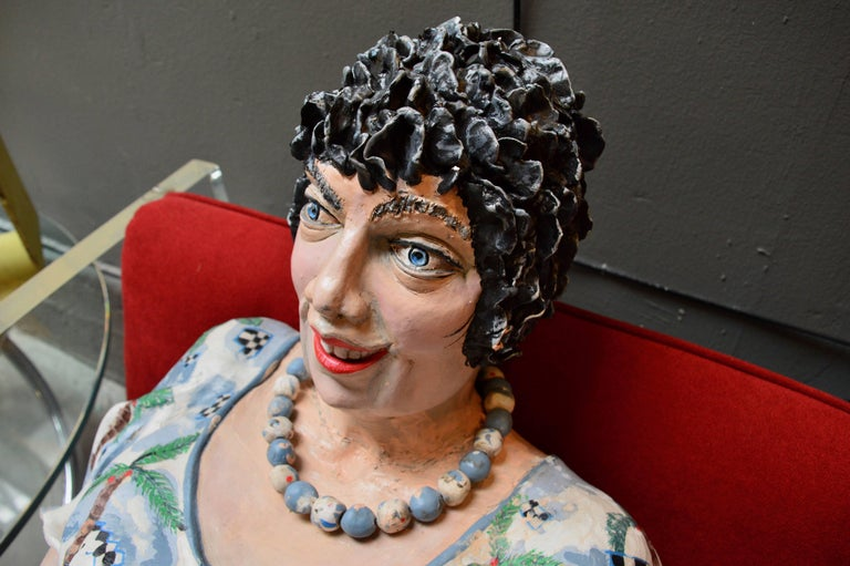 American Life Sized Plaster Sculpture  For Sale