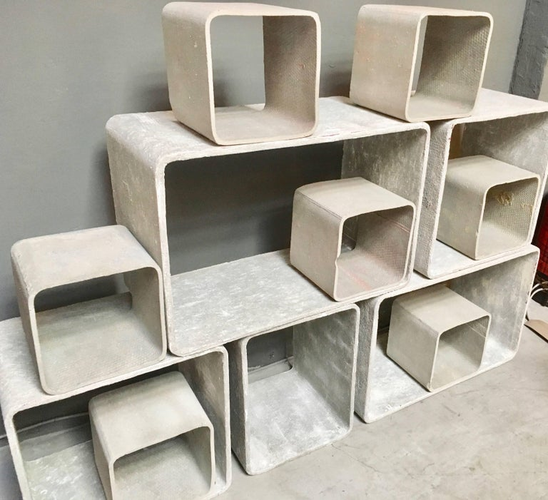 12 Piece Willy Guhl Modular Cement Bookcase 2