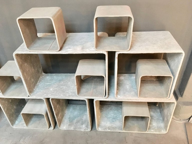 12 Piece Willy Guhl Modular Cement Bookcase 6