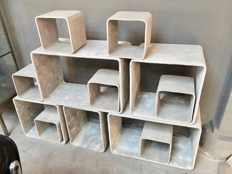 12 Piece Willy Guhl Modular Cement Bookcase 4