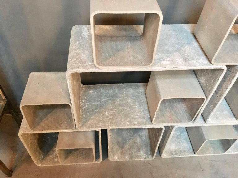 12 Piece Willy Guhl Modular Cement Bookcase 5
