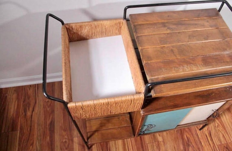 American Arthur Umanoff Bar Cart For Sale