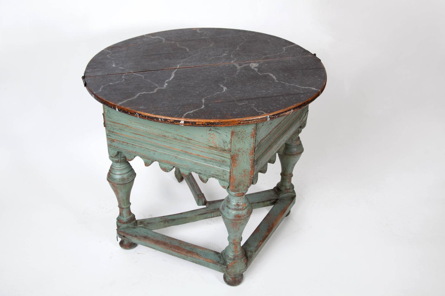 18th Century Swedish Folding Center Table For Sale At 1stdibs