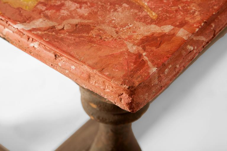 Pair of 18th Century Italian Chalk Tables In Distressed Condition For Sale In Scottsdale, AZ