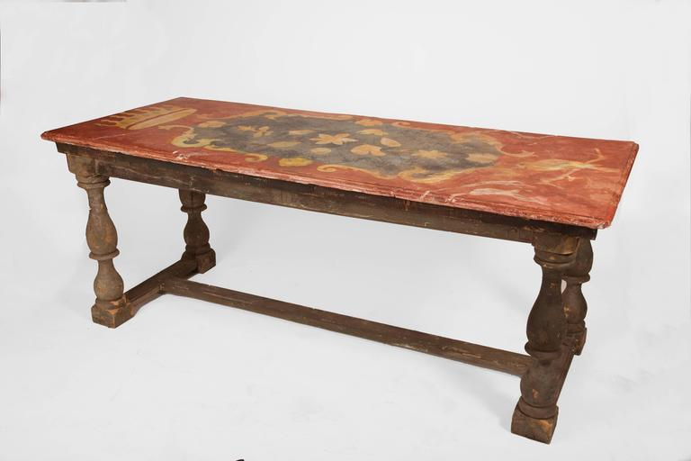 18th Century and Earlier Pair of 18th Century Italian Chalk Tables For Sale
