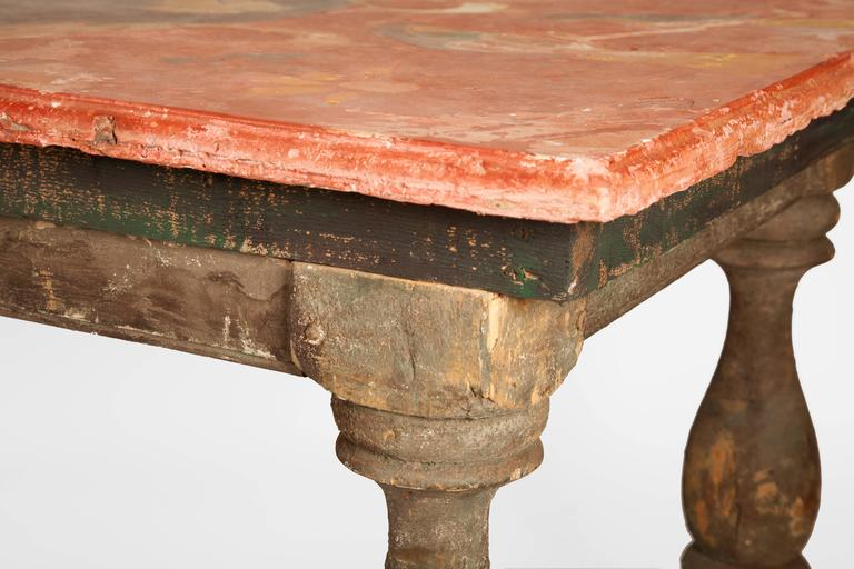 Pair of 18th Century Italian Chalk Tables For Sale 2