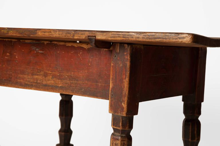 Country 19th Century Rustic Low Table For Sale