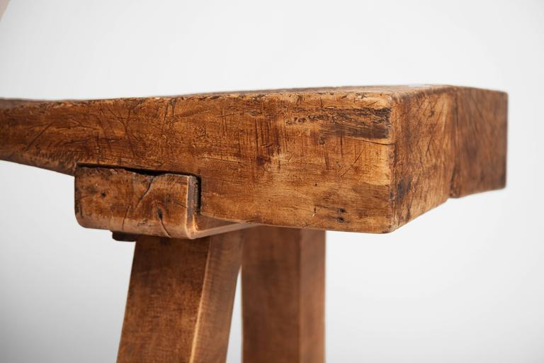 Rustic Chopping Block Low Table For Sale