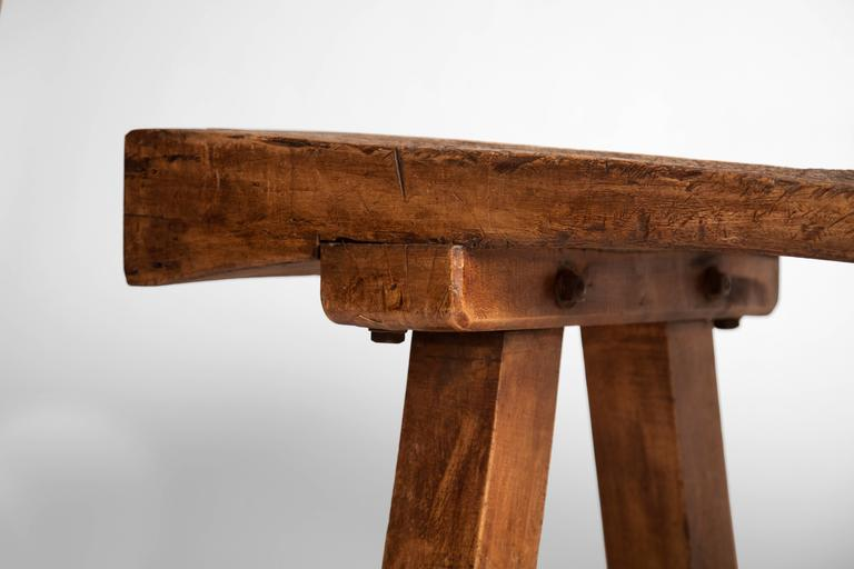 English Chopping Block Low Table For Sale