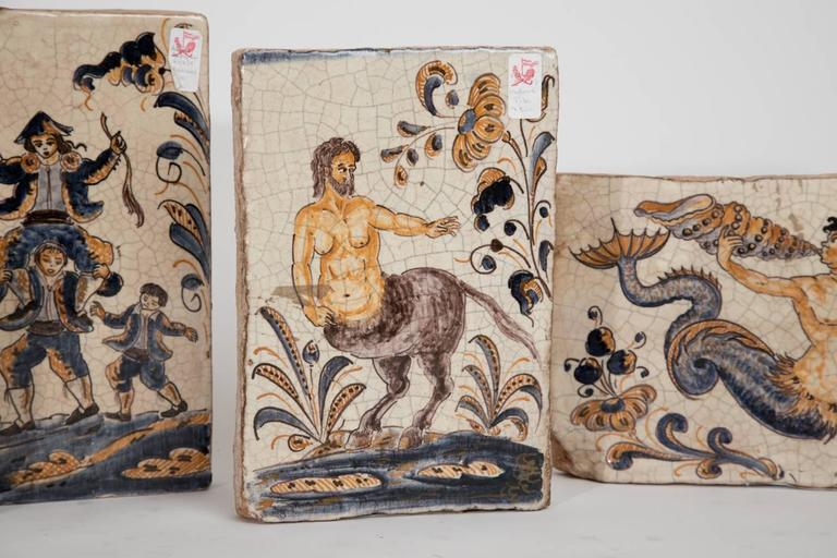 20th Century Hand-Painted Spanish Tiles For Sale