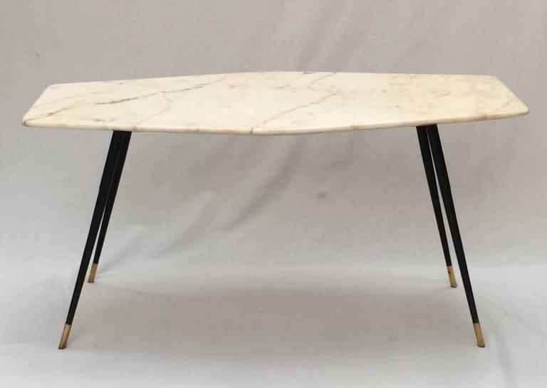 Mid-Century Modern 1950s Italian Marble Coffee Table For Sale