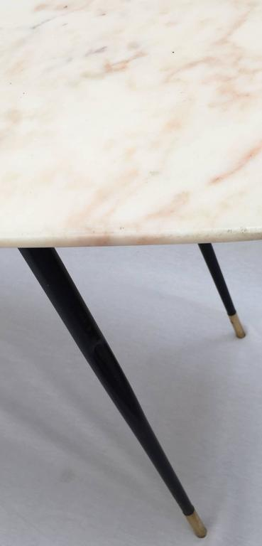 Lacquered 1950s Italian Marble Coffee Table For Sale