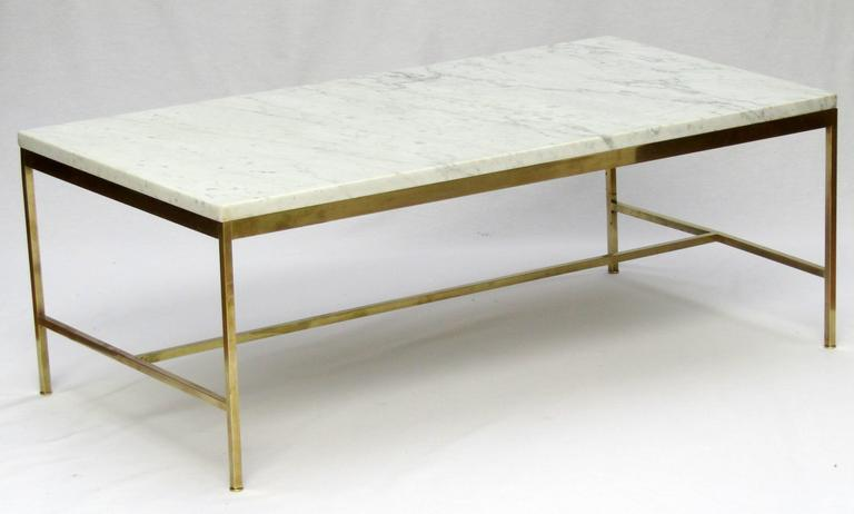 1950s Marble and Brass Coffee Table by Paul McCobb 2 - 1950s Marble And Brass Coffee Table By Paul McCobb For Sale At 1stdibs