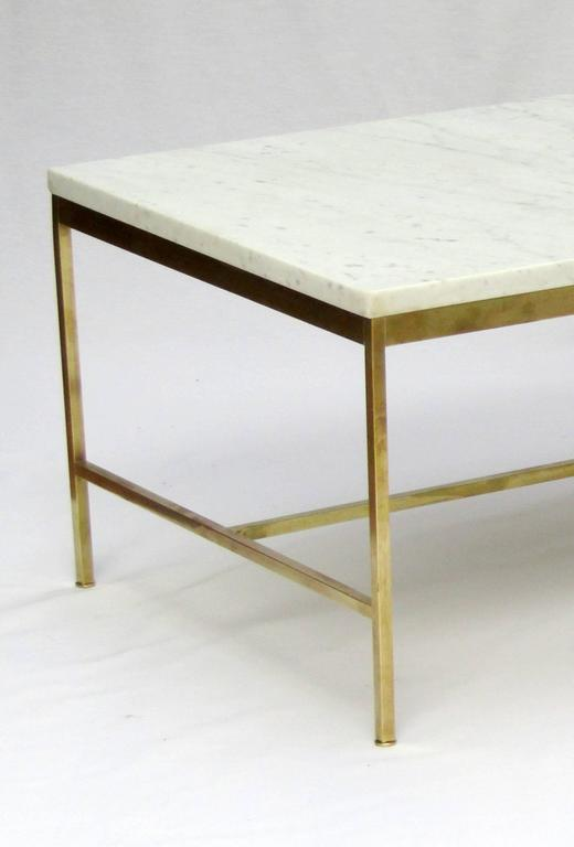 1950s Marble and Brass Coffee Table by Paul McCobb 3 - 1950s Marble And Brass Coffee Table By Paul McCobb For Sale At 1stdibs