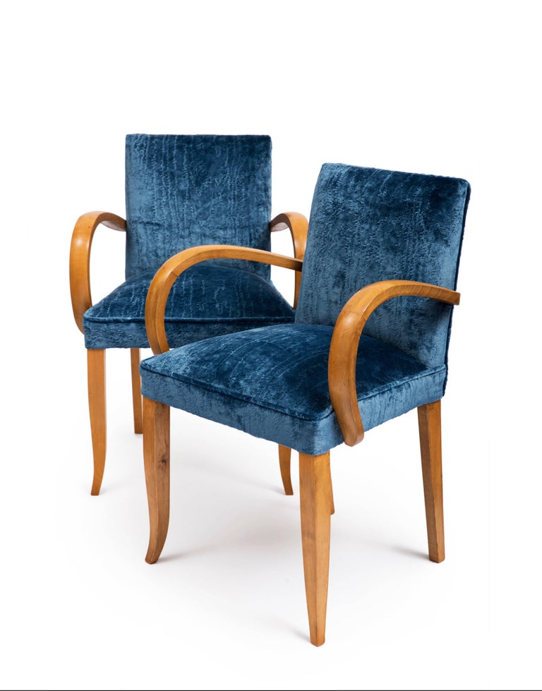 Pair of French Art Deco 1930s Bridge Chairs In Excellent Condition For Sale In London, GB