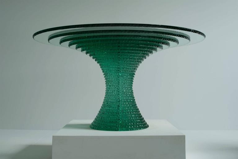 Emerald Table Layered Float Glass Table with Hammer  : EmeraldTable291701l from www.1stdibs.com size 768 x 513 jpeg 21kB