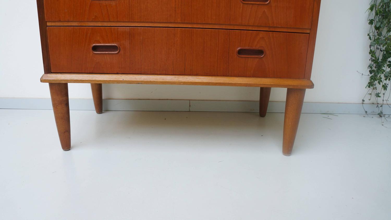Danish modern s teak highboard dresser chest of