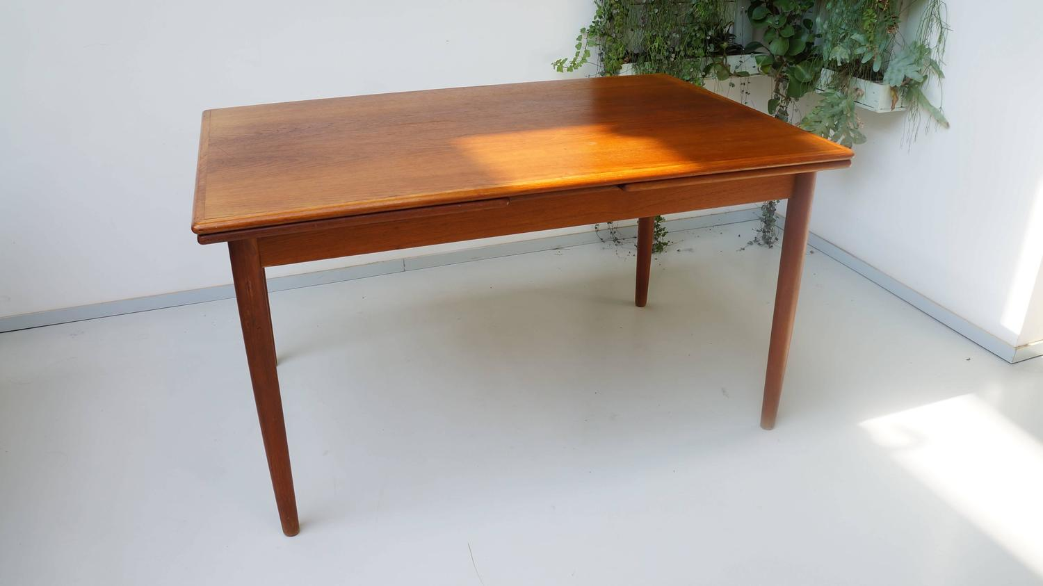 Scandinavian Danish Modern 1950s Rectangular Teak Wooden Dining Table